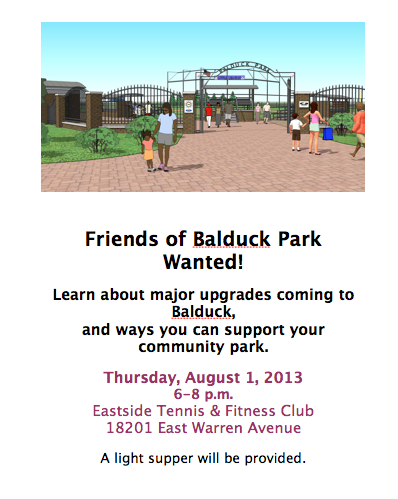 Friends of Balduck Park Wanted!