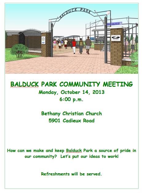 BALDUCK PARK COMMUNITY MEETING