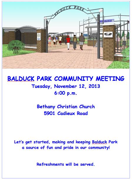 BALDUCK PARK COMMUNITY MEETING