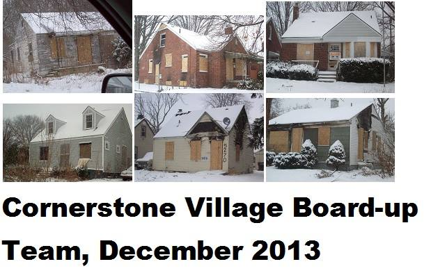 Cornerstone Village Board-up Team, December 2013