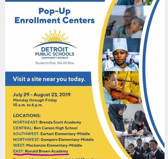 DPS Pop-Up Enrollment Centers